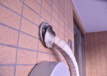 エアコン配管用壁穴の外観