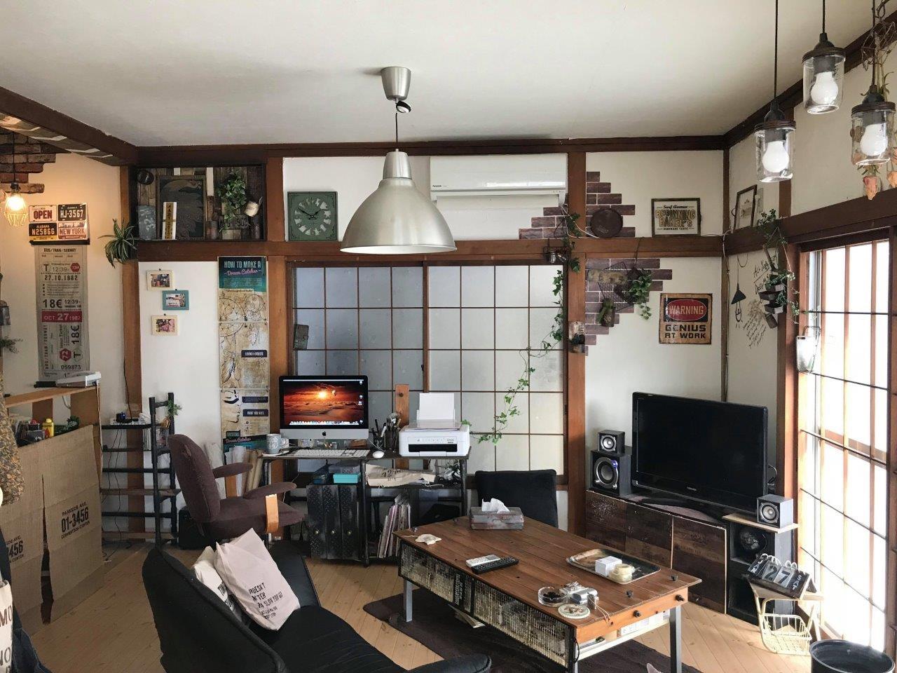 橋場氏による賃貸物件の居室DIY事例